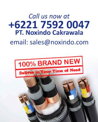 Supplier Kabel Jakarta : T. 021 - 7592 0047  F. 021 - 7592 0048  E. sales@noxindo.com [Klik gambar ini untuk menuju website resmi PT Noxindo Cakrawala di www.noxindo.com]